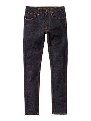 nudie-jeans-lean-dean-jeans-slim-uomo-blu-dry-slow-dark-w32-l34-taglia-produttorel34w32
