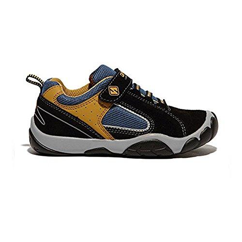 Kinder Schuhe Sneaker Breathable Trekking Wander Outdoor Lauf Schuh Bequemer Leichter Sportlich Velour Shoes für Junge Mädchen Schwarz