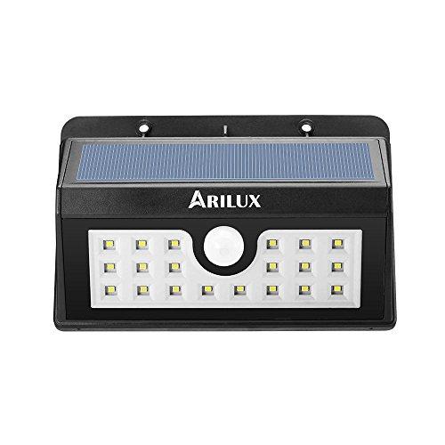 Bazaar ARILUXTM AL-SL02 alimenté 20 LED waterproof pir capteur de mouvement mur extérieur lumière solaire sans fil