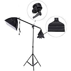 Andoer Photo Studio généraux Boom Arm lumière haut support 75-138cm pour Softbox lumière