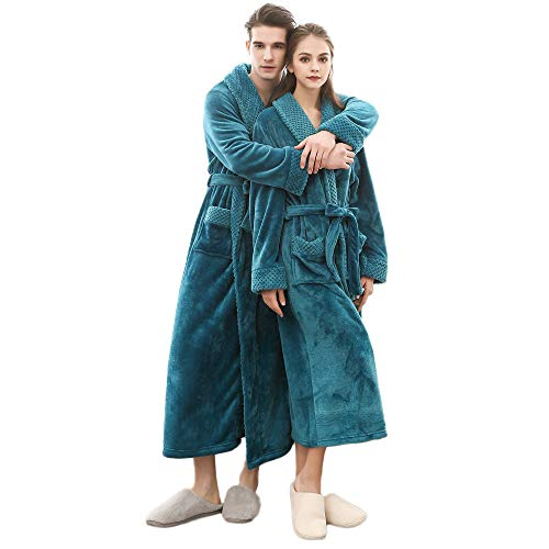 POLP Albornoz Mujer Hombre Unisex camisón Largo Abrigo