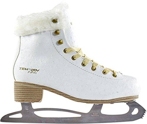 Tempish FINE Damen Eiskunstlauf Schlittschuhe weiß Kunstfell Eislauf