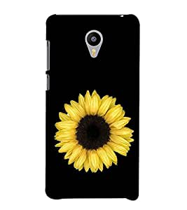 Sunflower 3D Hard Polycarbonate Designer Back Case Cover for Meizu m2 note :: Meizu Blue Charm Note2