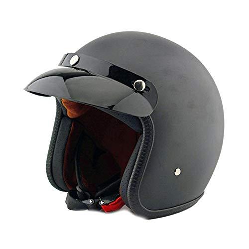 Yayumd casco moto universale per uomo e donna donna donna essere gentile aperto faccia design moto leggera scooter ciclomotore (s, m, l, xl)