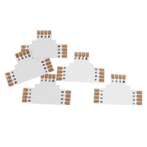 5 piezas en T 4 pin conector acoplador para 10 mm tira de LED RGB