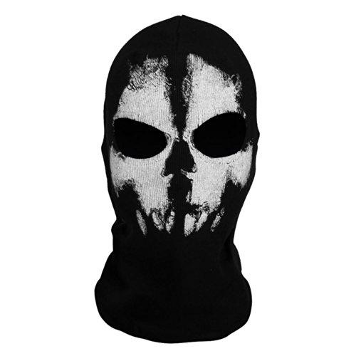 Coxeer® Geister Schädel-Maske Balaclava Hood Ghosts Skull Mask Outdoor Sports Skilaufen Wandern Full Face Mask for Men Maske für Männer (Model 1)