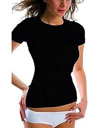 3x Brubeck Damen Smooth Skin Unterhemd Shirt kurzarm nahtlos (Damen Unterwäsche Funktionswäsche Baumwolle Cotton Polyamid Premium Qualität)