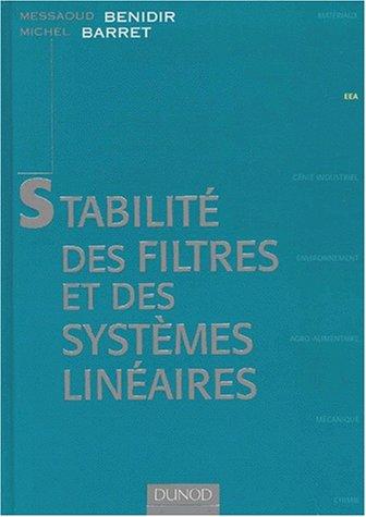 Stabilité des filtres et des systèmes linéaires