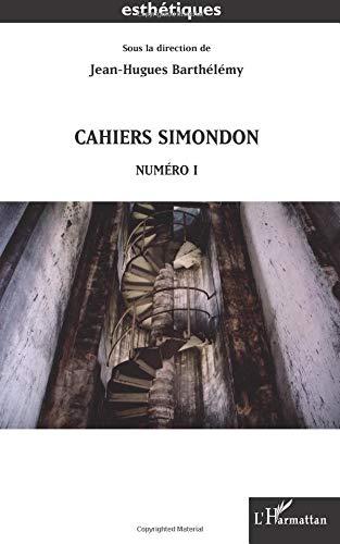 Cahiers Simondon - Numéro 1