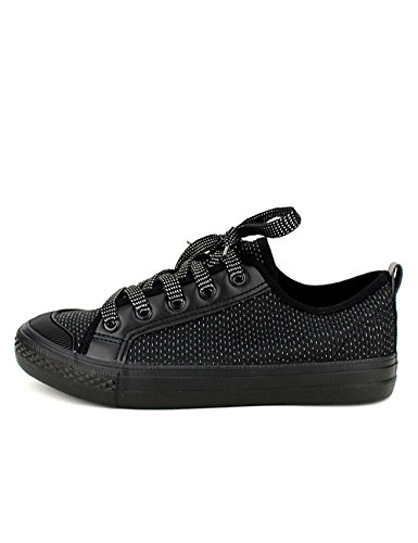 Cendriyon, Baskets Noires Paillettes Likes in Chaussures Femme