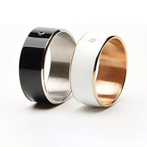TiMER 2 Smart NFC Multifunctional Ring 2015 for Android and Windows Phones (White, Size 12)