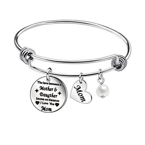Regalo per la festa della mamma gioielli braccialetto madre acciaio inossidabile