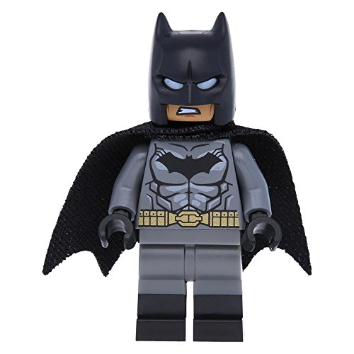 LEGO Batman - Dunkelgrauer (Neu) Anzug, Goldener Gürtel
