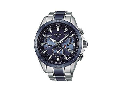 Reloj de Cuarzo Seiko Astron, Titanio, Cerámica, Azul, 45 mm, Día y fecha