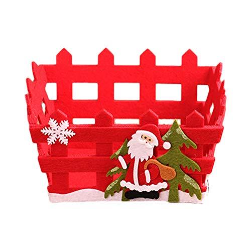 OUNONA Cesta almacenaje Caramelos Papá Noel Las Frutas