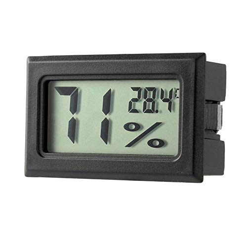 ini Digital LCD Indoor Wetter Thermometer Hygrometer Gauge Portable bequem für Home Office mit Min/Max Records - schwarz ()