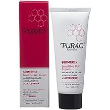 PURAO BIOMEDI+ CREME FÜR EMPFINDLICHE HAUT mit medizinischem Manuka Honig und Leptosperin für eine sensible, trockene und zu Hautekzemen neigende Haut 75ml