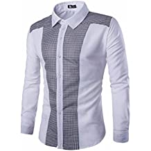 Camisas De Hombres,ZARLLE Mens Long Sleeve Oxford Formal Trajes Casual Slim Fit tee Camisas