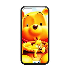 Winnie the Pooh Cute and Lovely Bear iphone 5c TPU(Laser Technology:fell the back Shadeshape)Side:Silicon Back:TPU Phone Case