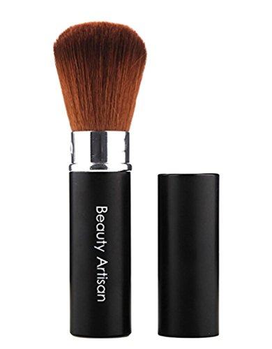 NiSeng Pinceau Maquillage Professionnel Rétractable Brosse à Nez Noir