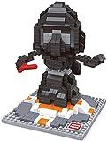 Figur Darth Vader aus Star Wars, gebaut mit Mini-Bausteinen. 491 Miniatur-Bausteine.