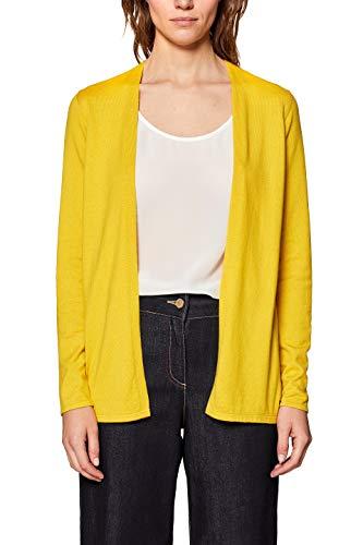 ESPRIT Damen 049EE1I004 Strickjacke, Gelb (Sunflower Yellow 5 734), Large (Herstellergröße:L)