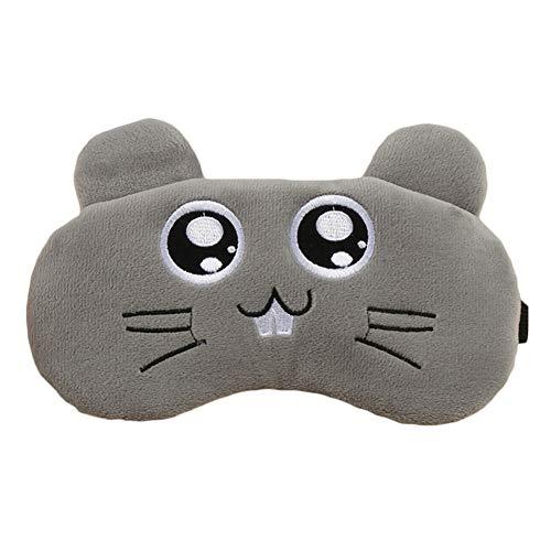 Maoran Augenmaske Schlafmaske Augenbinde Schlaf Augenabdeckung Patch Cartoon Maus Form Verstellbarer Riemen Maus Form 20 * 9,5 cm