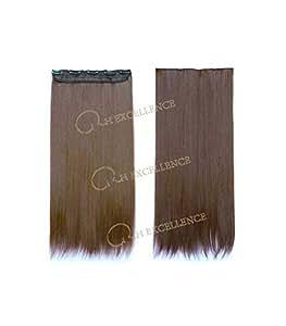 RH Excellence Extension à Clip Mono-Bande Blond Foncé Doré N°6 Extension de Cheveux