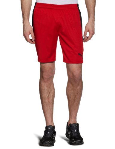 PUMA Herren Hose PowerCat 5.12 Shorts with Inner Slip Red-Black, XL