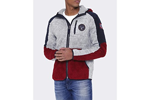 Napapijri Uomo Yupik Hooded Fleece di inverno Multi Colorata XL
