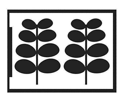 Gewölbten Blättern (Kreul 74871 - Flexible Designschablone DIN A5, für den Negativ Effekt auf glatten und gewölbten Untergründen, ideal für großflächigen Farbauftrag, selbstklebend, Blatt)