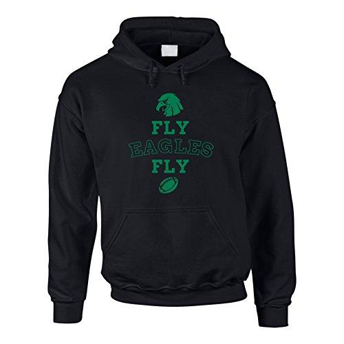 Shirt Department - Herren Hoodie - Fly Eagles Fly schwarz-dunkelgrün 5XL Eagle Herren Hoodie