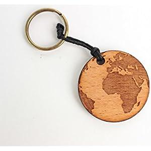 Schlüsselanhänger Erde mit individueller Gravur