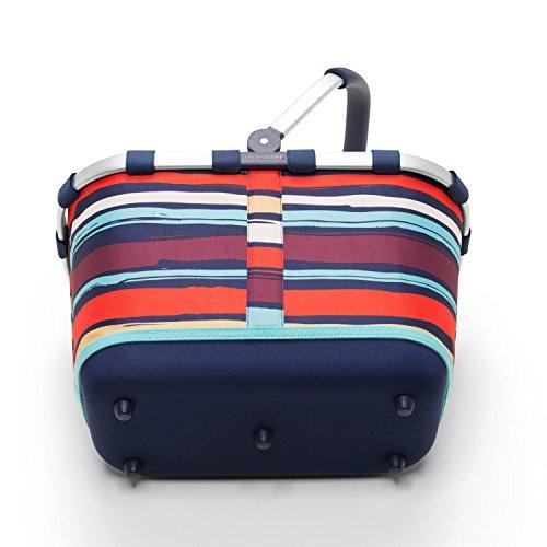 Reisenthel - Paniere, cesto per la spesa/da picnic con manici, colore e motivo a scelta, artist stripes (multicolore) - BL3058 Rosso|multicolore