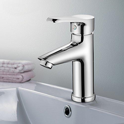 Tout bassin Lavabo robinet de bassin de cuivre eau chaude et froide Tap Bathroom Faucet Bassin de comptoir