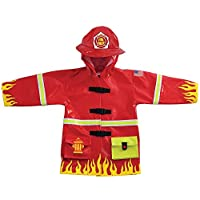 Kidorable Kids Fireman Raincoat (Extra Small (70-76cm 12-18 months))