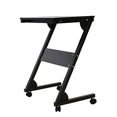 Table Laptop Computer Desk panier Mobile avec des roues pour Home Office Furniture Redscropion