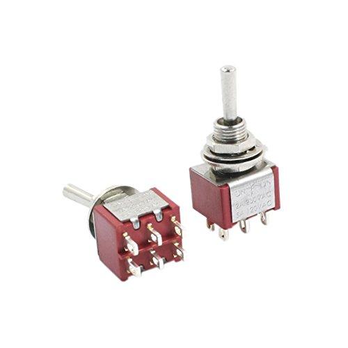 sourcingmap® 2stk Schalter Licht ein/aus Schalter an/aus/an 6Pins 2P2T AC 250V 2A 120V 5A