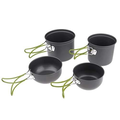 Camping-kochausrüstung (Sharplace Camping-Kochtopf Set Outdoor Kochausrüstung aus Aluminiumlegierung - Set 2)
