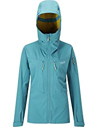 Rab Upslope Hooded Softshell Jacket - Women's Amazon/Mimosa, XL