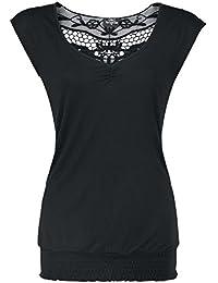 Fashion Victim Backlace T-shirt Femme noir