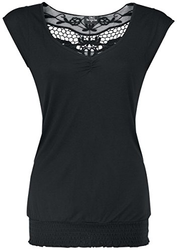 Fashion Victim Backlace Maglia donna nero L
