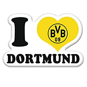 bvb aufkleber sticker i love bvb borussia dortmund bvb sport freizeit. Black Bedroom Furniture Sets. Home Design Ideas