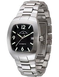Zeno Watch Basel 6037-a1 - Reloj analógico automático para hombre con correa de acero inoxidable, color plateado