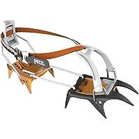 Petzl T02A LLU Irvis Hybrid Loverlock Universel - Crampones híbridos para las aproximaciones y el esquí por terreno glaciar, Gris/Naranja