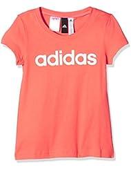 adidas Yg Linear Tee Camiseta, Niña, Naranja (Corsen / Blanco / Blanco), 152