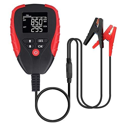 Sunnyushine Batterietester Professional 12V Automobilbatterie Testgerät Digital Analyzer Test-Tool, Für Auto/Boot/Motorrad Und Mehr