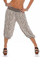 malito Pumphose kurz Pluderhose im Harem-Stil Hose Orient-Muster 8581 Damen One Size