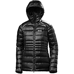 Helly Hansen W VANIR Icefall Down Jacket Chaqueta Rell, Mujer, Negro (Black), L