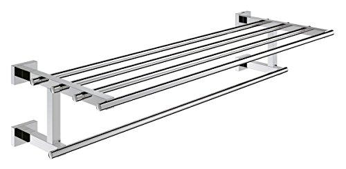 GROHE Essentials Cube Badetuchhalter mit Ablage, 600 mm, für mehrere Badetücher 40512000